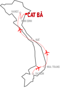 vietnam_map cat ba baie halong